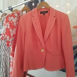 Signature Single Button Stitch Coral Blazer …